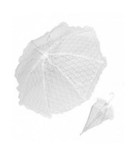Αξεσουάρ μεταμφίεσης - Ομπρέλα Λευκή Δαντελένια 83cm  από το looklike.gr