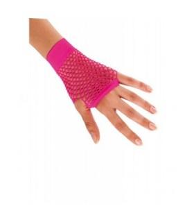 Αξεσουάρ μεταμφίεσης - Κοντά Διχτυωτά Γάντια Φούξια από το looklike.gr