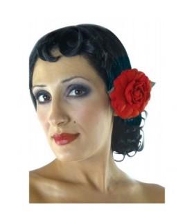 Αξεσουάρ μεταμφίεσης - Περούκα Σπανιόλας Με Λουλούδι από το looklike.gr