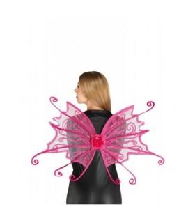 Αξεσουάρ μεταμφίεσης - Φτερά πεταλούδας Φούξια από το looklike.gr