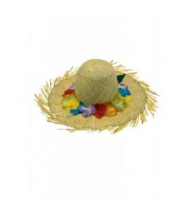 Αξεσουάρ μεταμφίεσης - Ψάθινο Καπέλο Με Λουλούδια από το looklike.gr