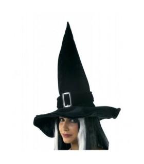 Αξεσουάρ μεταμφίεσης - Μαύρο Καπέλο Μάγισσας Με Αγκράφα από το looklike.gr