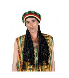 Αξεσουάρ μεταμφίεσης - Καπέλο Πλεκτό Με Μαλλιά Ρέγκε από το looklike.gr