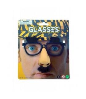 Αξεσουάρ μεταμφίεσης - Αστεία Γυαλιά Με Μύτη Φρύδια Και Μουστάκι από το looklike.gr