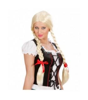 Αξεσουάρ μεταμφίεσης - Περούκα κοτσίδες ξανθιές  από το looklike.gr