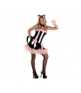 στολή γάτα για ενήλικες ροζ φόρεμα από το Looklike.gr