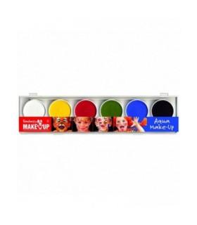 Παλέτα 6 Aqua Χρωμάτων Face Painting για μακιγιάζ, από το looklike.gr