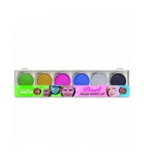 Παλέτα 6 Aqua Περλέ Χρωμάτων Face Painting για μακιγιάζ, από το looklike.gr