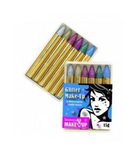 Αποκριάτικα μολύβια μακιγιάζ με glitter set 6 τεμαχίων από το Looklike.gr