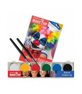 Παλέτα 6 Aqua Χρωμάτων Face Painting και οδηγίες για μακιγιάζ, από το looklike.gr