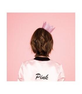 κορώνα χάρτινη ροζ glitter από το looklike.gr