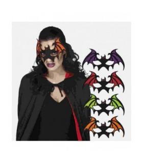 Αποκριάτικη μάσκα ματιών νυχτερίδα σε 4 συνδυασμούς χρωμάτων
