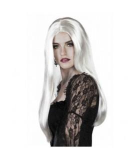 Περούκα σε άσπρο χρώμα, μακριά, διαθέσιμη όλο το χρόνο!