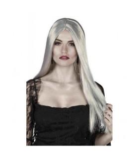 Αποκριάτικη περούκα μάγισσας μακριά σε γκρι χρώμα άμεσα διαθέσιμη