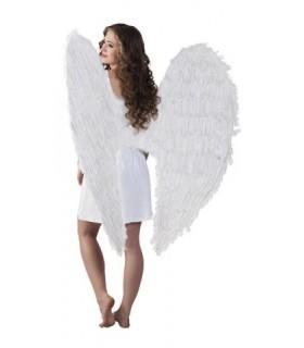 Μεγάλα εντυπωσιακά φτερά αγγέλου σε άσπρο χρώμα και διαστάσεις 120 εκατοστά