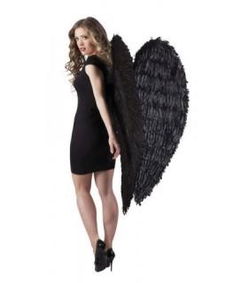 Μεγάλα εντυπωσιακά φτερά αγγέλου σε μαύρο χρώμα
