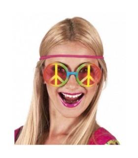 Πολύχρωμα γυαλιά μεγάλα Χίπι για εντυπωσιακές μεταμφιέσεις
