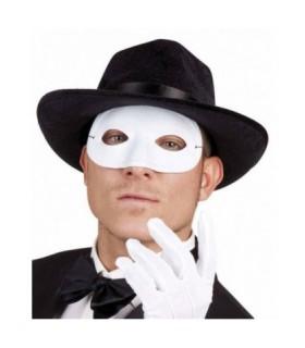 Μάσκα ματιών ντόμινο σε άσπρο χρώμα