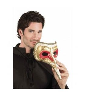 Μάσκα βενετσιάνικη λευκή με χρυσό