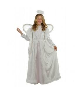 Παιδική χριστουγεννιάτικη στολή για κορίτσια Αγγελάκι με φτερά και φωτοστέφανο από το Lookike.gr