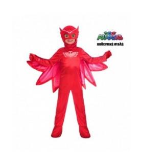 Κόκκινη παιδική στολή 6-7 ετώ PJ Masks πιτζαμοήρωας Owlette Αυθεντική από το looklike.gr