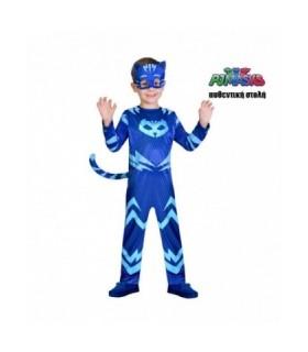 Μπλε παιδική στολή PJ Masks πιτζαμοήρωας Cat Boy Αυθεντική  4-5 ετών από το looklike.gr