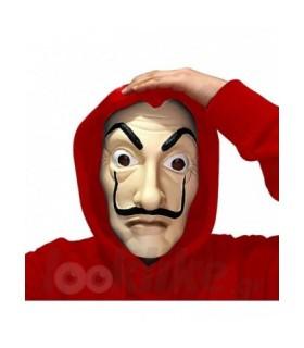 μάσκα la casa de papel μάσκα dali με κόκκινη κουκούλα