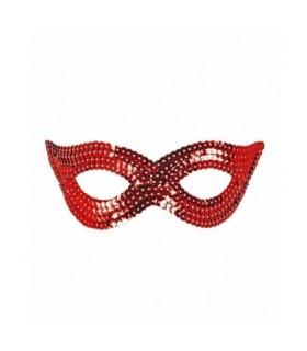 Μάσκα ματιών με πούλιες σε κόκκινο χρώμα