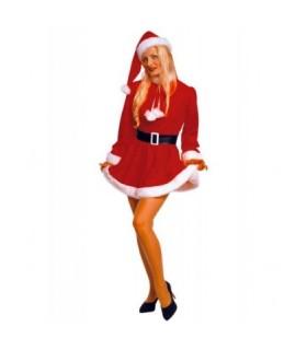 Γυναικεία Χριστουγεννιάτικη στολή Αγιοβασιλίτσα με κοντό φόρεμα