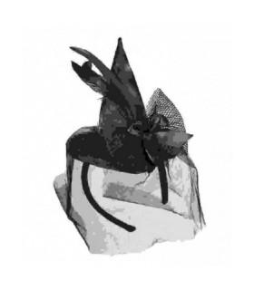 Πρωτότυπα αποκριάτικα αξεσουάρ μεταμφίεσης, μίνι καπέλο-στέκα μάγισσας για χαριτωμένες εμφανίσεις
