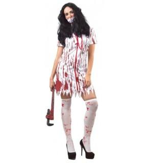 Αποκριάτικη στολή για γυναίκες Νοσοκόμα με αίμα