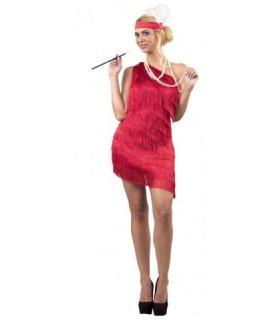 Αποκριάτικη στολή γυναικεία Τσάρλεστον σε κόκκινο χρώμα