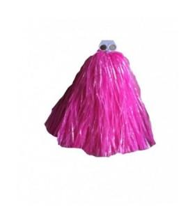 Αποκριάτικο πον πον μαζορέτας σε φούξια χρώμα