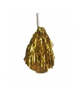 Αποκριάτικο πον πον μαζορετας χρυσό με tinsel
