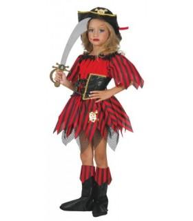 Χαριτωμένη αποκριάτικη στολή για κορίτσια Μικρή Πειρατίνα