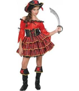 Εντυπωσιακή αποκριάτικη στολή για κορίτσια Βασίλισσα των Πειρατών
