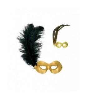 Μάσκα Ματιών Χρυσή Με Φτερά