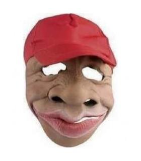 Μάσκα λάτεξ με κόκκινο καπέλο
