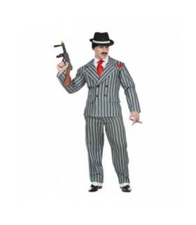 Ανδρική αποκριάτικη στολή Gangster Μαφιόζος σε XL size