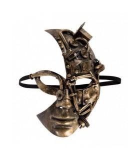 Μάσκα Steampunk Half Face Χρυσή από το Looklike.gr