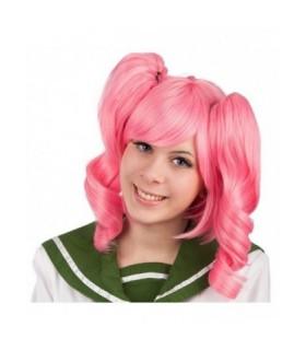 Αποκριάτικη Περούκα με Κοτσίδες Ροζ από το Looklike.gr