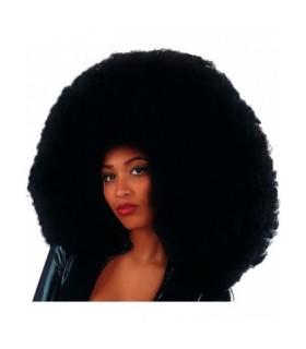 Αποκριάτικη Περούκα Super Αφάνας Μαύρη 60cm από το Looklike.gr