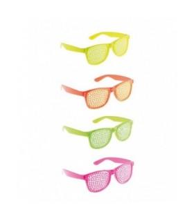 Αποκριάτικα γυαλιά fluo σε 4 χρώματα από το Looklike.gr