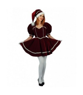 Γυναικεία Χριστουγεννιάτικη Στολή Αγιοβασιλίνα Μπορντό από το looklike.gr