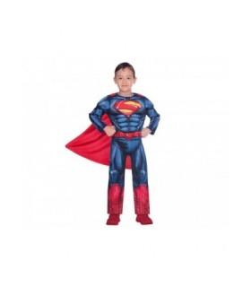 Αυθεντική αποκριάτικη στολή Superman για παιδιά 3 - 4 ετών διαθέσιμη από το Looklike.gr