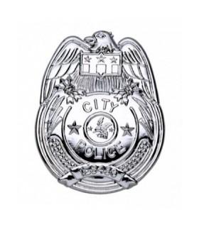 Αξεσουάρ μεταμφίεσης - Σήμα Αστυνομικού ασημί από το looklike.gr